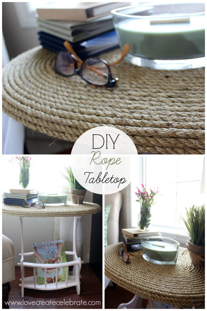 DIY Rope Tabletop