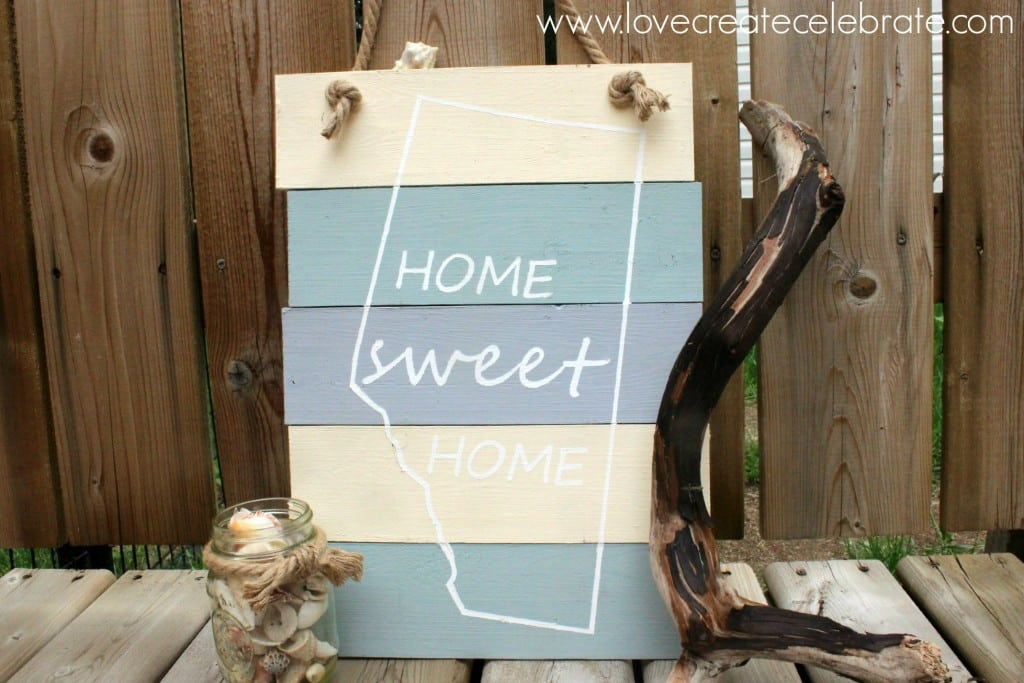 Home Sweet Home Beach Sign