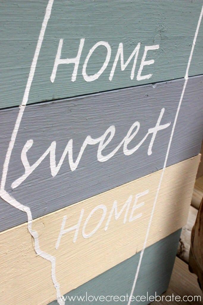 Diy Home Sweet Home Sign Love Create Celebrate