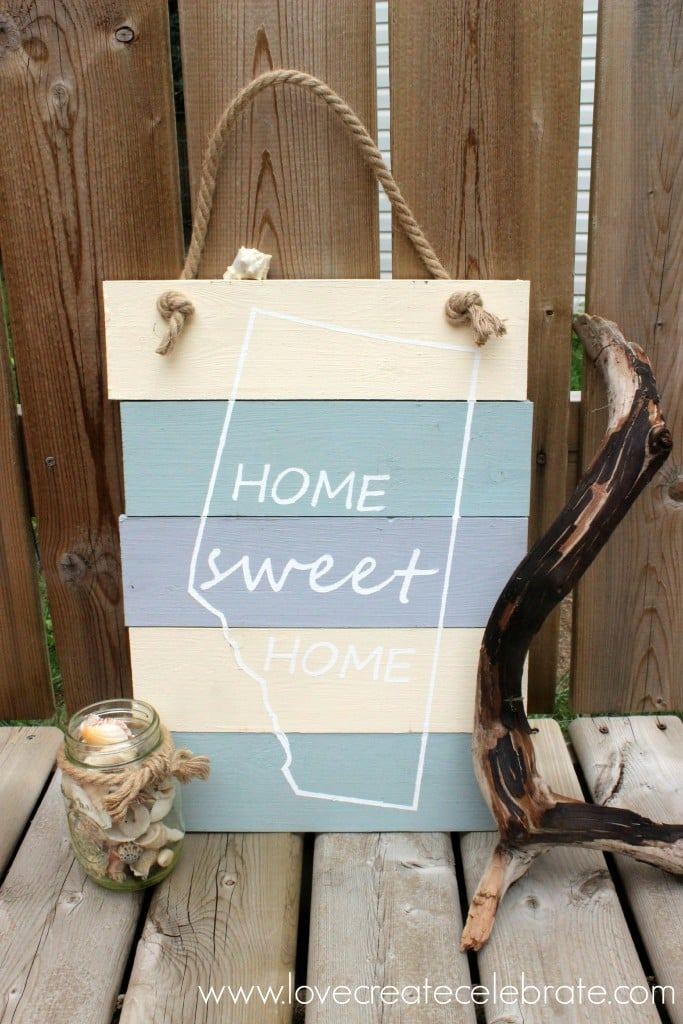 DIY Home Sweet Home Sign
