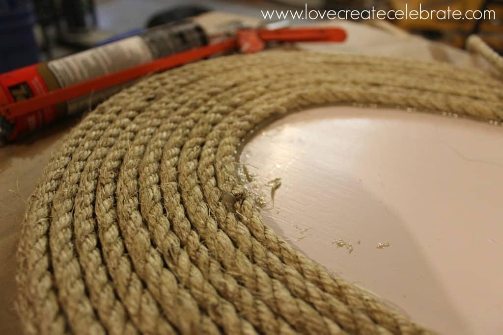 DIY Rope Tabletop