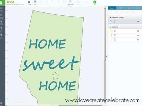DIY Home Sweet Home Sign Cricut