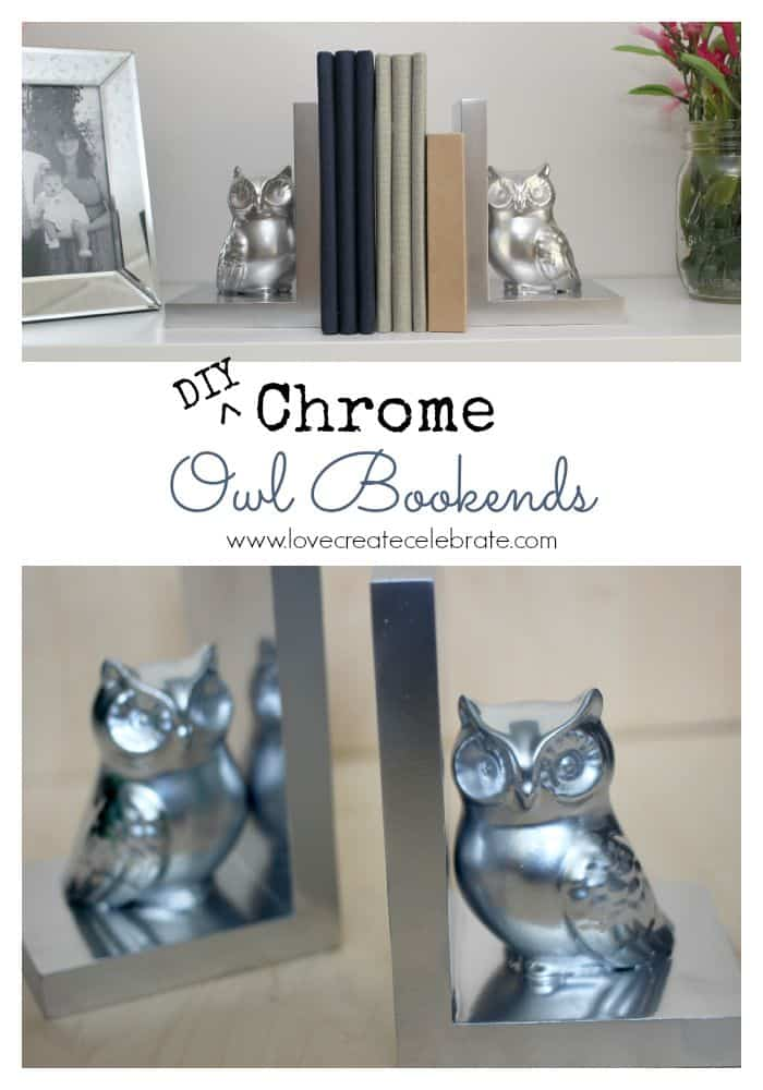 DIY Chrome Owl Bookends