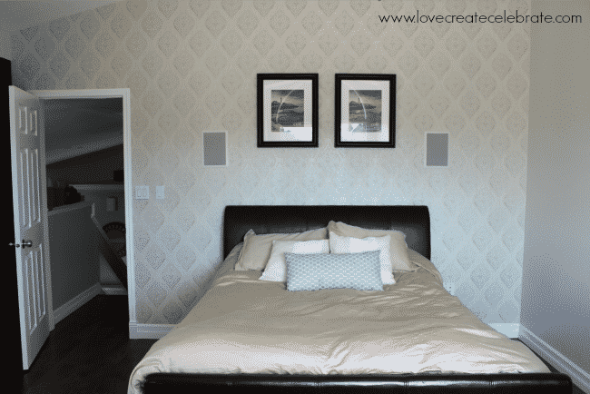 Master bedroom wallpaper in less than 3 hours love for Wallpaper ideas for master bedroom