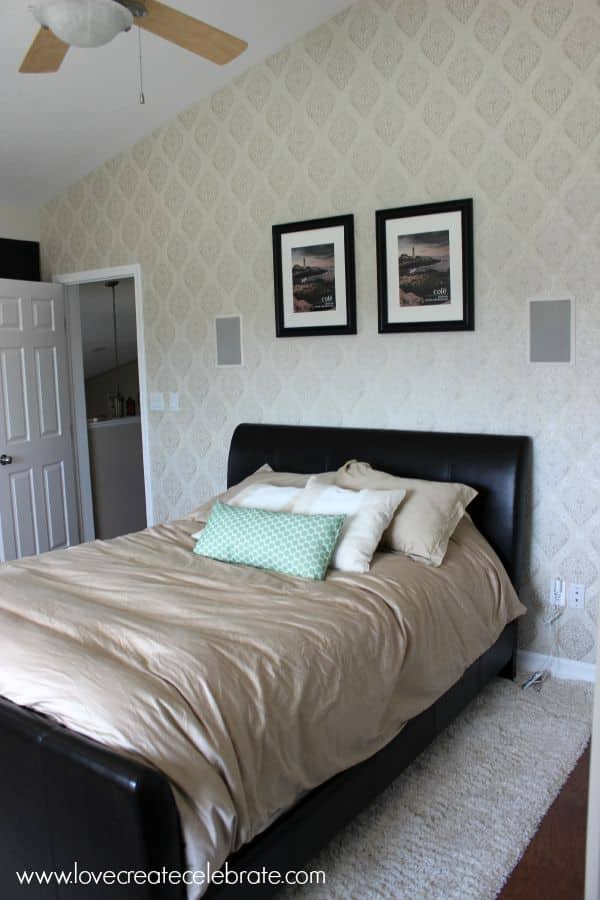 master bedroom wallpaper in less than 3 hours love create