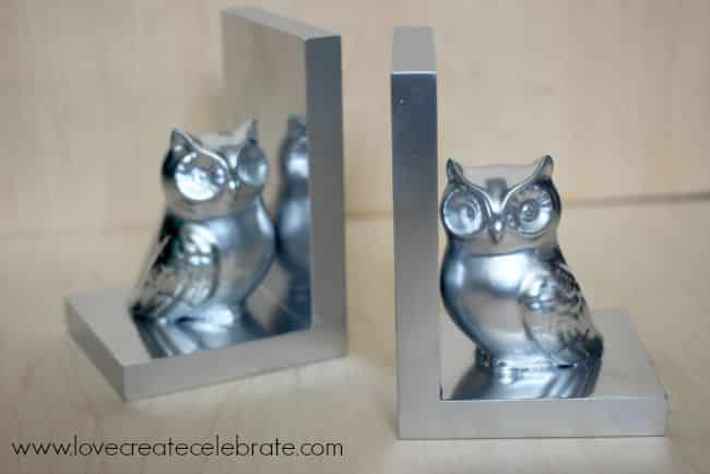 chrome owl bookends