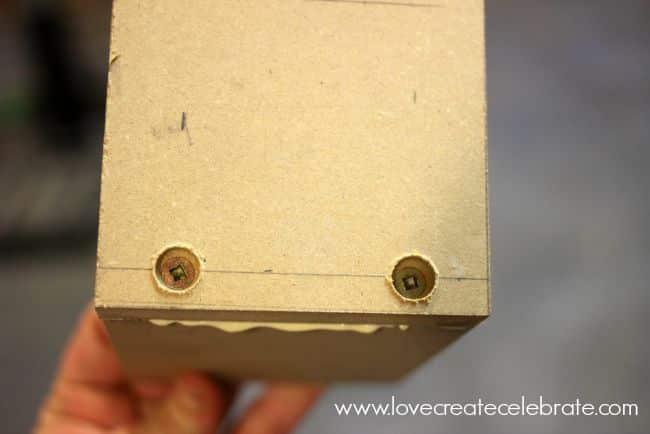 glue and screws