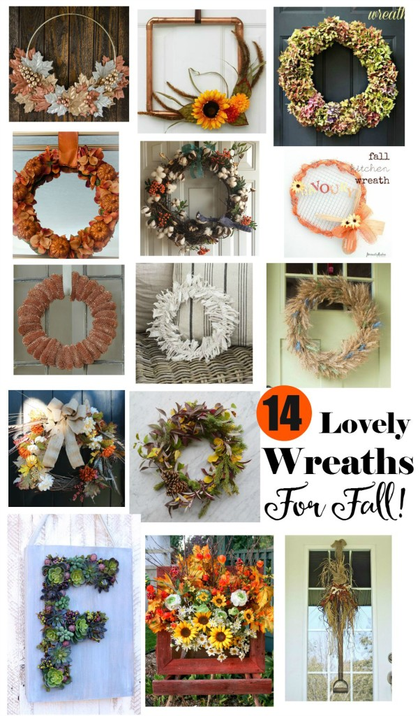 14 Lovely Wreaths For Fall