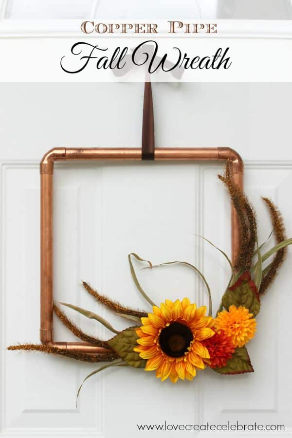 This copper pipe wreath is a simple DIY craft that looks great for the fall