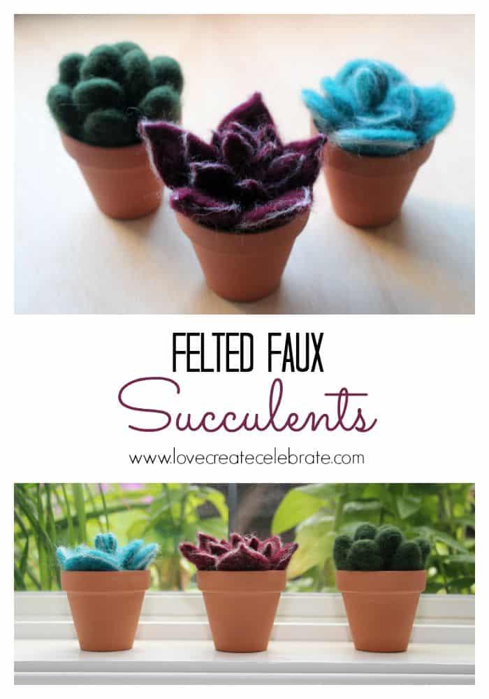 Felted Faux Succulents