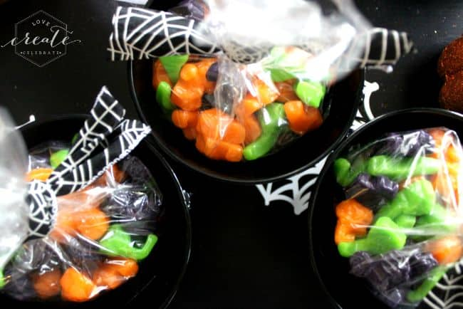 Halloween pails candy