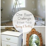 One Room Challenge {Week Two}: Painting and Thrifting
