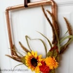 DIY Copper Pipe Fall Wreath