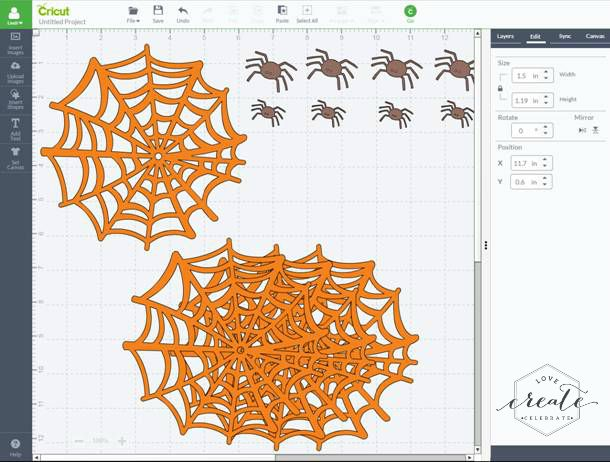 Spiders Cricut