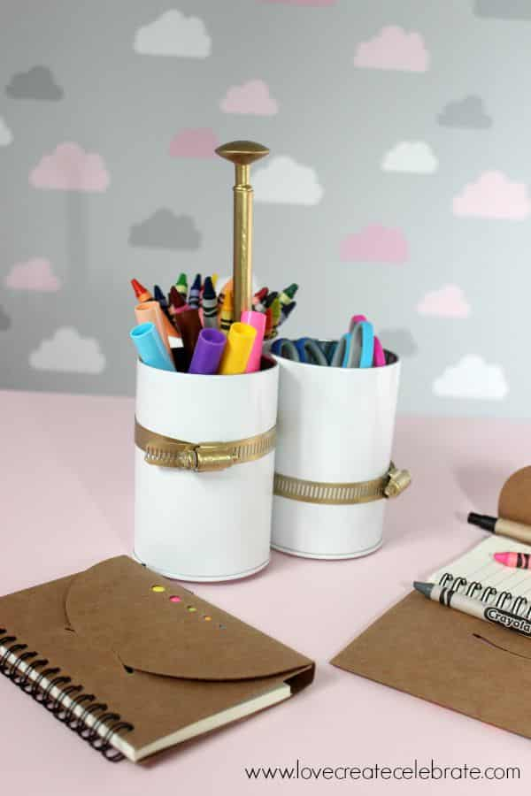 Vertical Art Supply Caddy