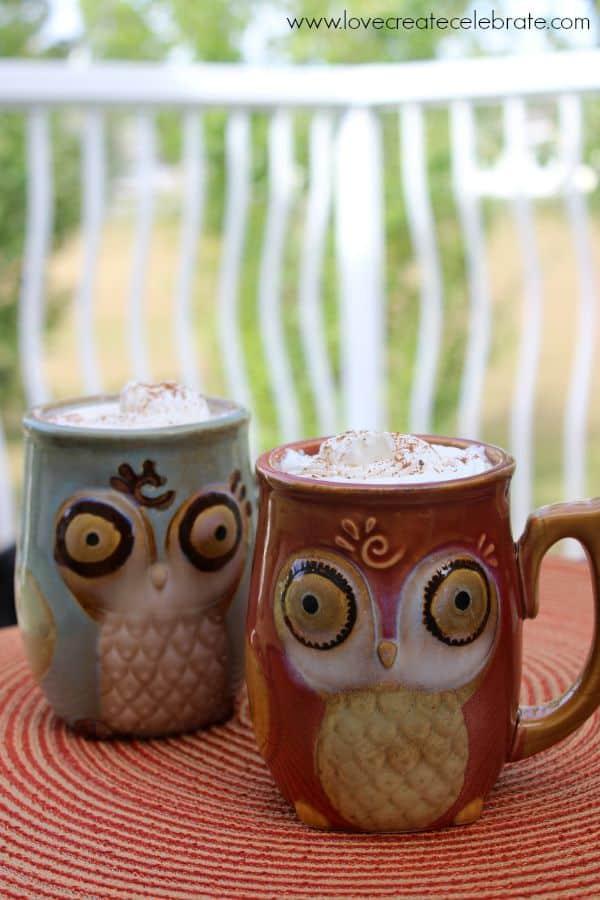 Vertical Owl Mugs