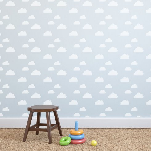 Cloud wall nursery design