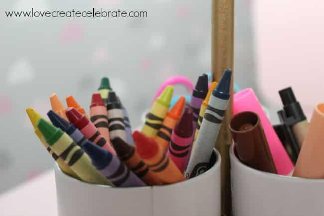 crayons art caddy