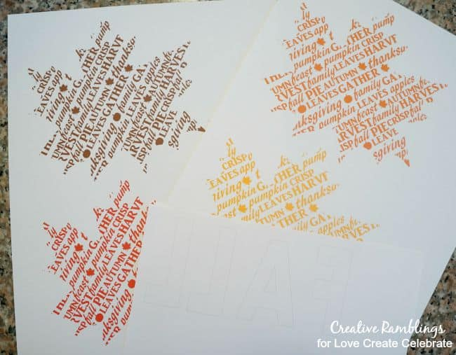 Fall printable word art banner