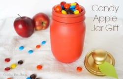 Painted red apple mason jar git