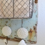 Shabby Wood Towel Holder