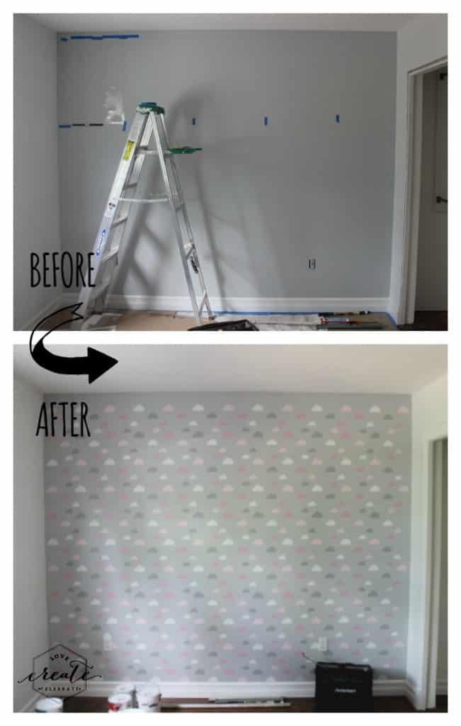 Before and after wall