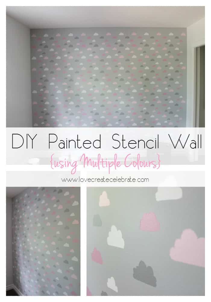 Wall Stencils Design Your Own : Diy painted stencil wall love create celebrate