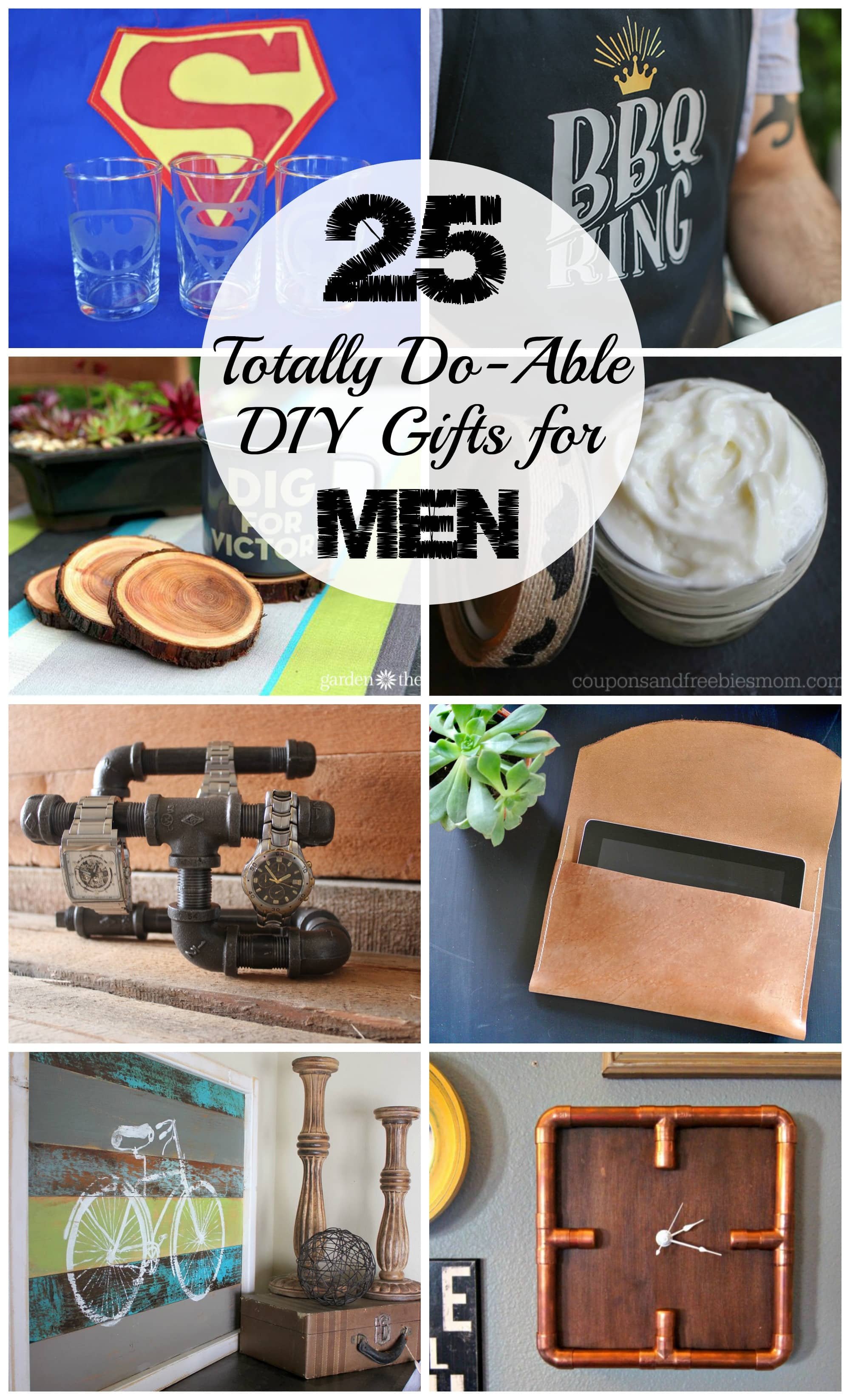 25 diy gifts for men love create celebrate for Easy gifts for men