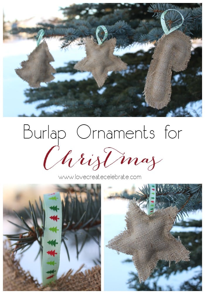 DIY Burlap Ornaments Ornaments for Christmas