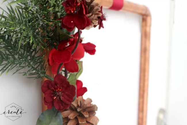 Copper Pipe Christmas Wreath
