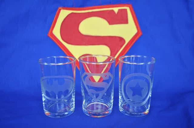 These superhero glasses featuring Batman, Superman and Captain America are a fun gift idea.