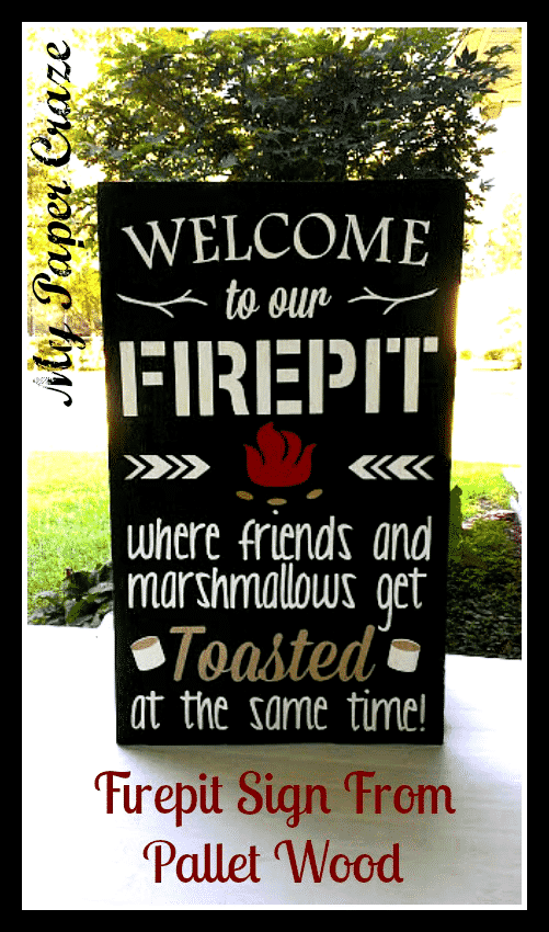 This fire pit sign made from pallet wood is DIY and the perfect gift for any occasion.
