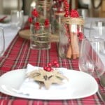 Red & White Holiday Tablescape