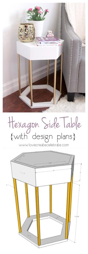 Hexagon Side Table with plans