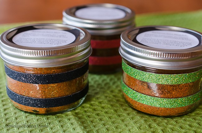These barbecue spiced meat rubs are tasty and make a great homemade gift.