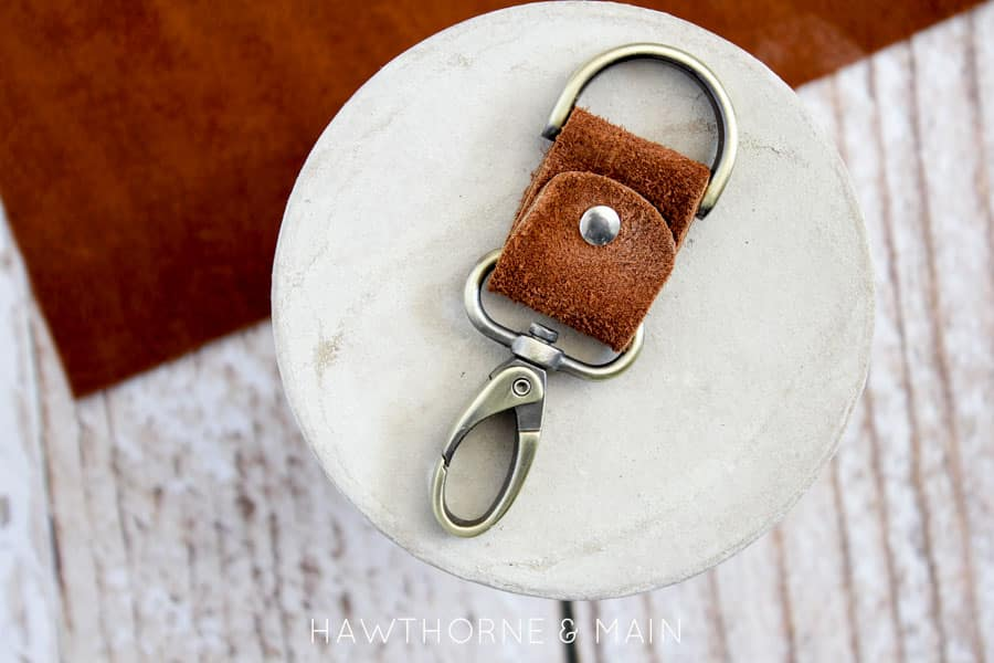 This brown leather key chain is simple, useful and the perfect gift.