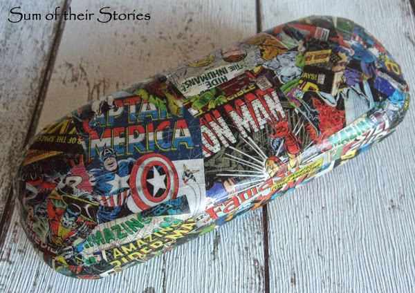 comic book glasses case finished