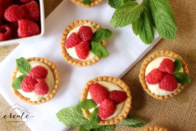 holly tarts from above