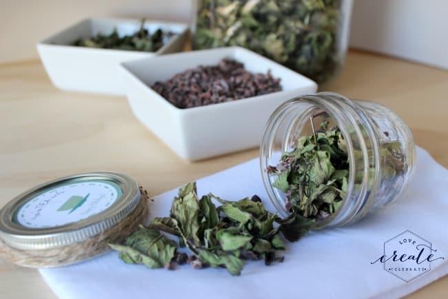 mason jar homemade tea