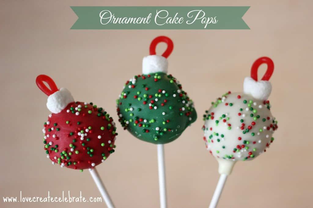 ornament cake pops