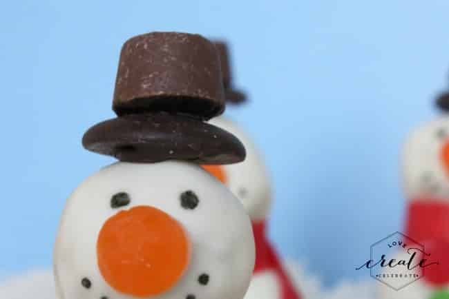 snowman candy hat
