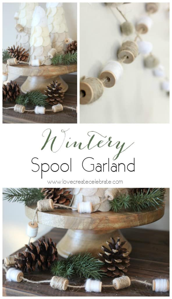 Wintery Spool Garland