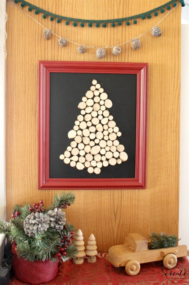 Wood Slice Christmas Tree