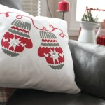 Stenciled Christmas Pillow