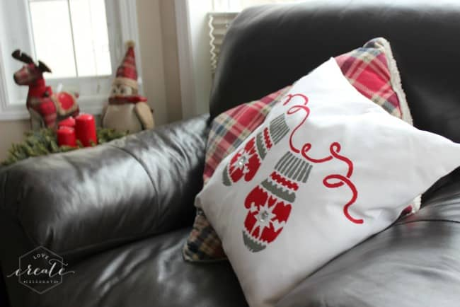Christmas pillow finished