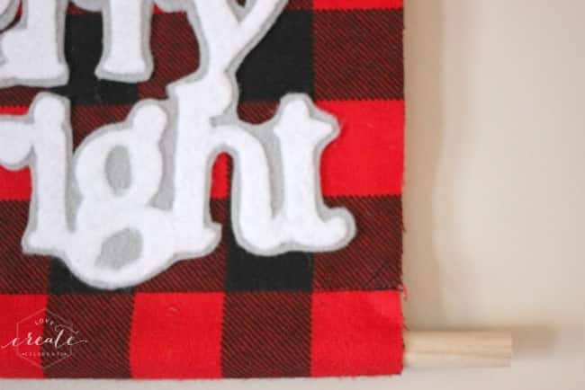 Buffalo Check Christmas Banner