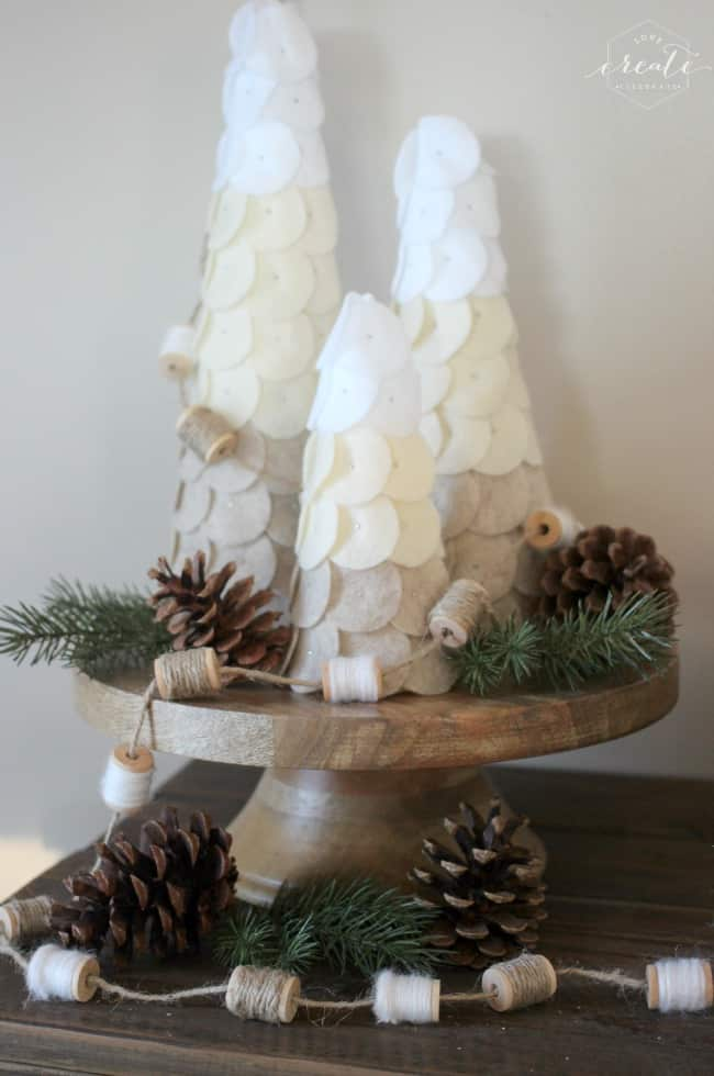 These DIY Ombre Winter Trees are the perfect pieces to decorate for the holidays, but leave up all year round! Your teens with love making them with you!