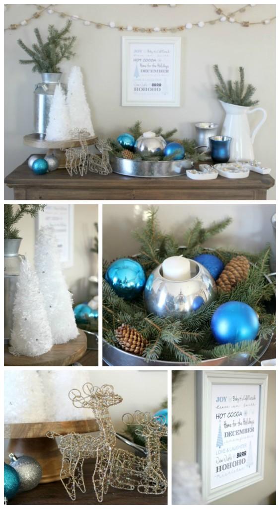 winter vignette collage