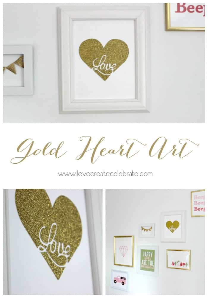Gold Heart Art