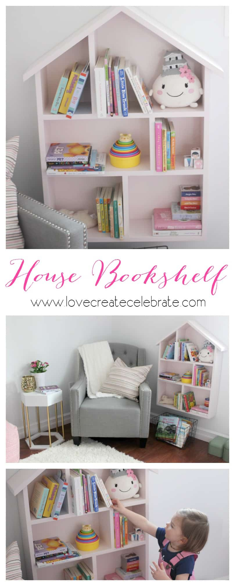 organizer bedroom shelf itm space pink wood small bookcase cube furniture storage